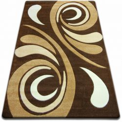 Carpet FOCUS - 8695 brown WAVE wenge cacao