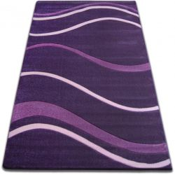 Carpet FOCUS -  8732 dark violet WAVES LINES DASHES purple lila