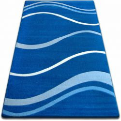 Carpet FOCUS - 8732 blue WAVES LINES