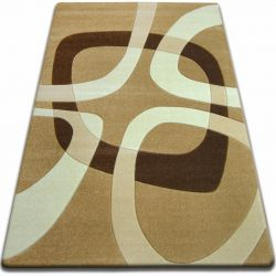 Carpet FOCUS - F242 beige SQUARE quadrangle cappuccino