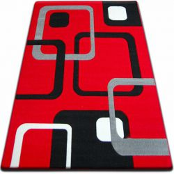 Carpet FOCUS -  F240 red SQUARES