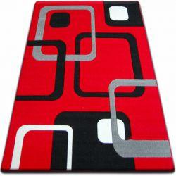 Carpet FOCUS -  F240 red SQUARES
