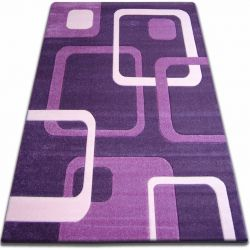Carpet FOCUS -  F240 dark violet SQUARES purple