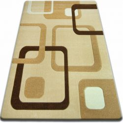 Carpet FOCUS - F240 garlic SQUARES beige gold