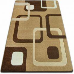 Carpet FOCUS - F240 beige SQUARES cappuccino