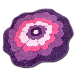 Carpet children CIRCLE HAPPY C273 FLOWER purple