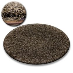 Carpet circle SHAGGY GALAXY 9000 brown