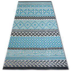 Carpet LISBOA 27201/754 Diamonds Turquoise