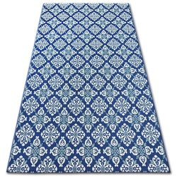 Carpet COLOR 19246/699 SISAL Flowers Blue