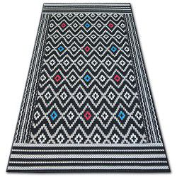 Carpet COLOR 19315/239 SISAL Diamonds Black