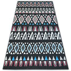 Carpet COLOR 19321/239 SISAL Diamonds Triangles Black