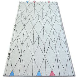 Carpet COLOR 19312/236 SISAL Diamonds Triangles White
