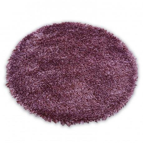 Carpet LOVE SHAGGY circle design 93600 purple