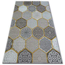 Carpet LISBOA 11111/111 Hexagon Honeycomb Yellow