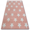 Carpet SKETCH - FA68 pink/cream - Stars