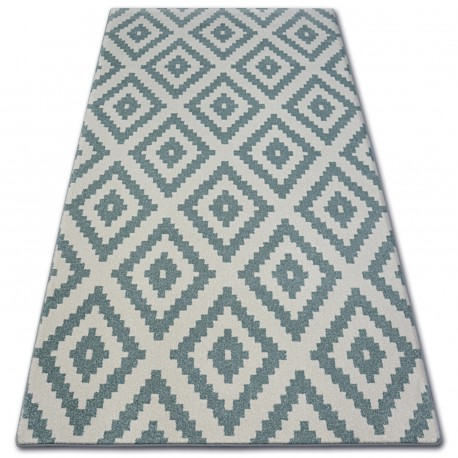 Carpet SKETCH - F998 turquoise/cream - Squares
