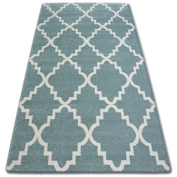 Carpet SKETCH - F343 turquoise/cream trellis