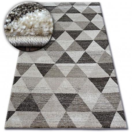 Carpet Shadow 636 L Beige Cream Triangles