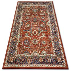 Carpet VERA 4561 terra / blue WOOL