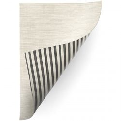 Carpet DOUBLE 29205/095 STRIPES black/beige / MELANGE beige double-sided