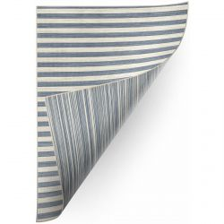 Carpet DOUBLE 29203/035 STRIPES blue/beige double-sided