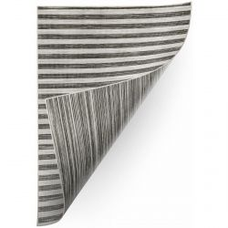 Carpet DOUBLE 29203/092 STRIPES grey/black double-sided