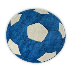 Carpet children CIRCLE HAPPY football blue