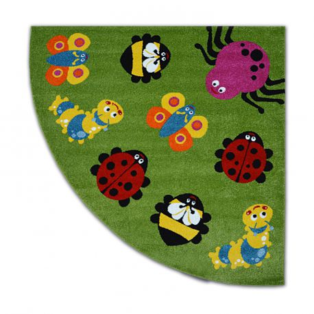Carpet Paint Quarter Circle G4774 Animals Greencream