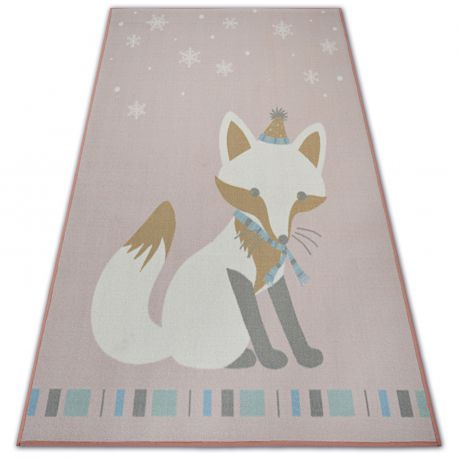 Carpet for kids LOKO Fox pink anti-slip