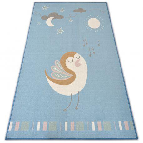Carpet for kids LOKO Bird blue anti-slip