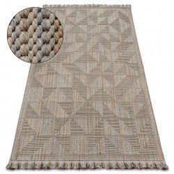 Carpet NATURE SL160 beige fringe SIZAL BOHO