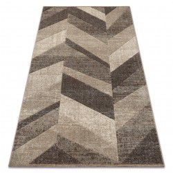 Carpet FEEL 5673/15055 HERRINGBONE beige / brown / cream