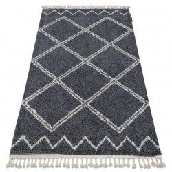 Carpet BERBER ASILA B5970 grey / white Fringe Berber Moroccan