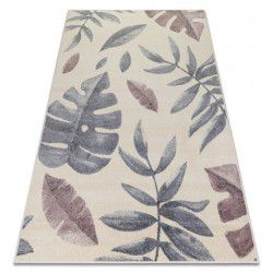 Carpet HEOS 78428 cream / pink LEAVES