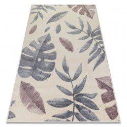 Carpet HEOS 78428 cream / pink LEAVES MONSTERA
