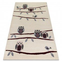 Carpet HEOS 78465 cream / claret OWLS