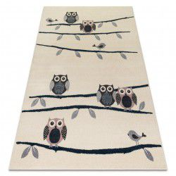 Carpet HEOS 78465 cream / blue / pink / grey OWLS