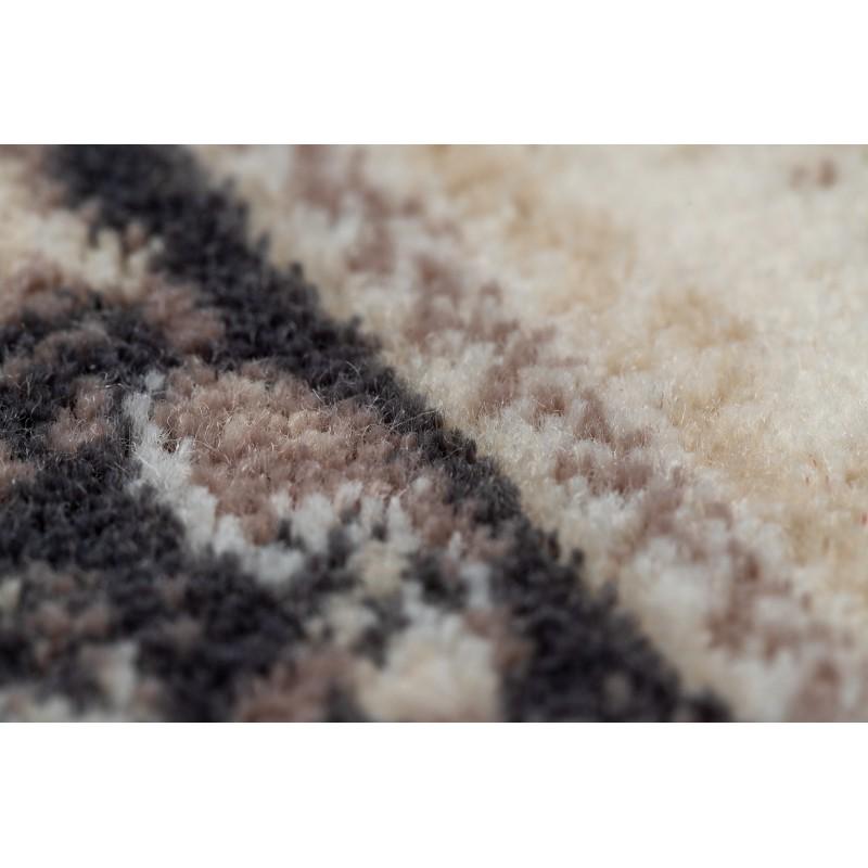 L/'art floral fleur rétro naturel marron chocolat laine tapis dans différentes tailles