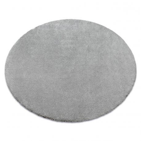 Carpet, round STAR silver