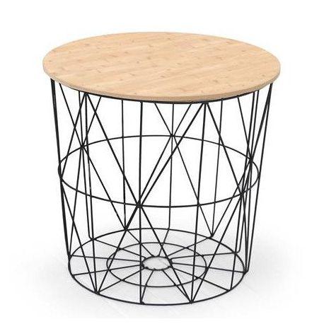 Coffee Table MARIFFA natural / black