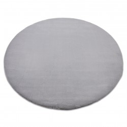 Carpet BUNNY circle silver IMITATION OF RABBIT FUR