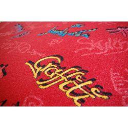 Carpet wall-to-wall GRAFFITI red