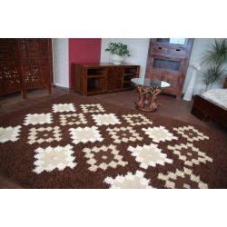 Carpet TRIPLEX BARID dark brown
