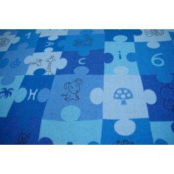 Children carpet PUZZLE blue