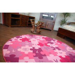 Carpet circle PUZZLE purple
