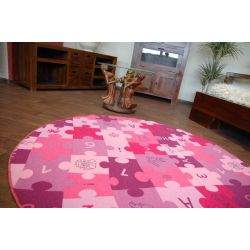 Carpet circle PUZZLE purple