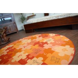 Carpet circle PUZZLE orange