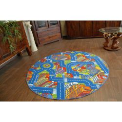 Carpet circle BIG CITY blue