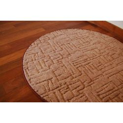 Carpet circle KASBAR brown