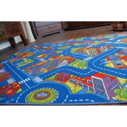Carpet wall-to-wall ULICZKI BIG CITY blue